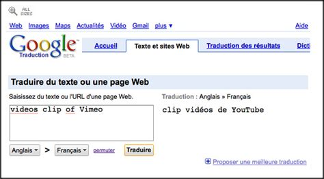 google  french lessons translates vimeo