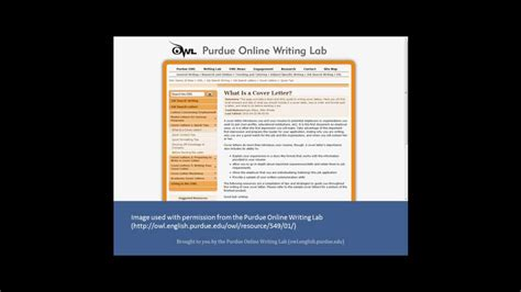 The purdue owl has an apa sample paper available on its website. Purdue Owl Cover Letter | levelings