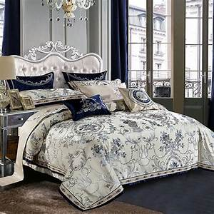 Blue, Color, Europe, Luxury, Royal, Bedding, Sets, Queen, King