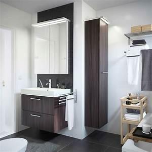 Hochschrank Mit Schubladen : ein wei es badezimmer mit godmorgon waschbeckenschrank mit 2 schubladen in schwarzbraun ~ Orissabook.com Haus und Dekorationen