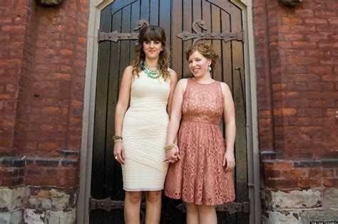 Lesbian Wedding Photos A Cheerful Vintage Inspired Real
