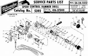 Milwaukee 5392 Parts List And Diagram