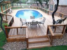 above ground pool deck plans oval deck ideas pinterest
