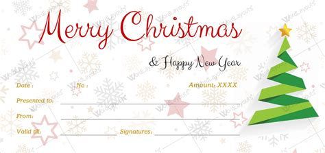 christmas gift certificate template  word layouts