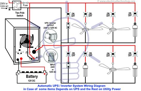 Automatic Ups Wiring For Partial Load The Rest Depends