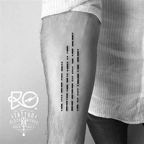 1000+ Ideas About Morse Code Tattoo On Pinterest Tattoos