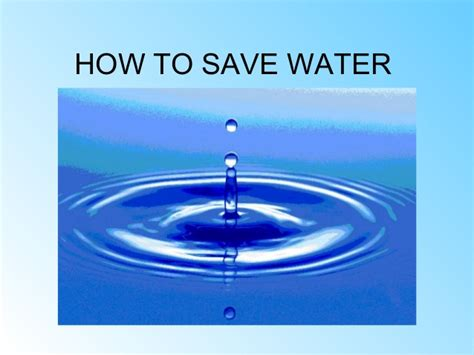 How To Save Water By Group 3