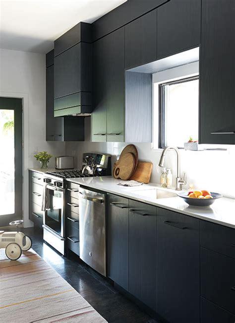 deco une cuisine en noir  blanc chatelaine