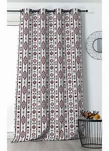 Rideau Rouge Et Noir : rideau color style ethnique rouge blanc et noir homemaison vente en ligne tous les rideaux ~ Teatrodelosmanantiales.com Idées de Décoration
