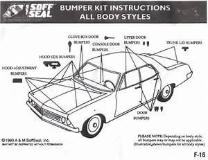 68 69 70 71 72 73 74 Chevy Ii    Nova Rubber Bumper Kit Soffseal 4094 Usa Made 12854020448