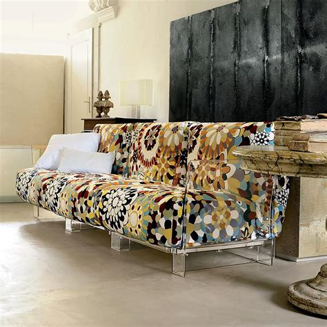 Pop Missoni Sofa Design Sofa Kartell, 2 Or 3 Seats, With