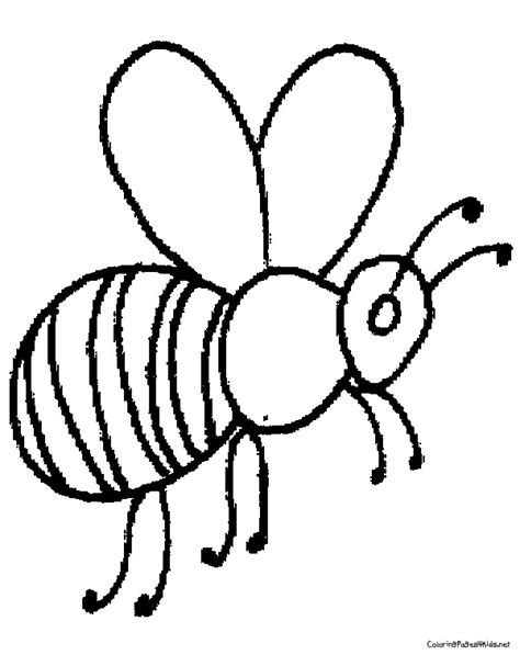 Coloring Bee by Bee Coloring Pages 28489 Bestofcoloring