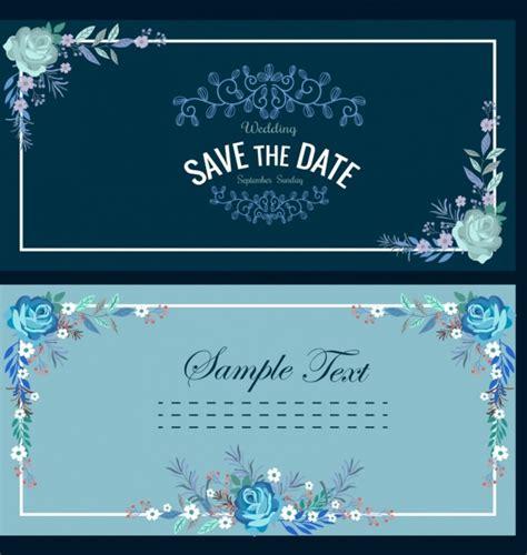 bunga gelap klasik pernikahan kartu template bingkai