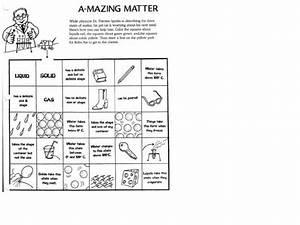 A-mazing Matter Worksheet For 3rd