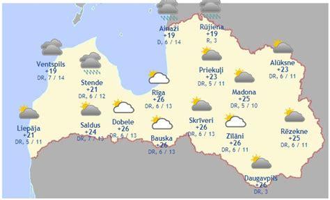 Laika prognoze šodienai, 21. jūnijam - Aktuāli - epadomi.lv