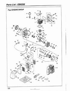 Red Max Eb6200-11  96 Serial No  None Date 11  96 Parts Diagram For 012