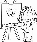 Clip Easel Painting Clipart Drawing Mandala sketch template
