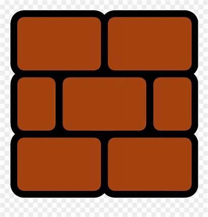 Clipart Mario Brick Block 2d Pinclipart Transparent