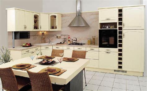 cuisine couleur vanille décoration cuisine vanille