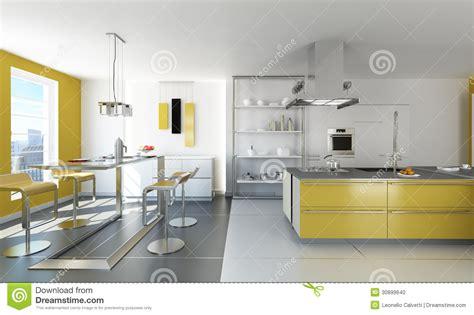 cuisine blanche et jaune cuisine blanche et jaune moderne illustration stock