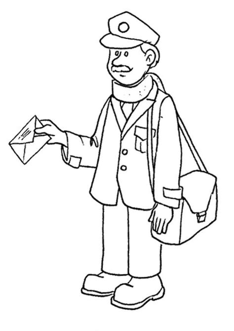 postman  coloring page post office pinterest coloring coloring pages  change