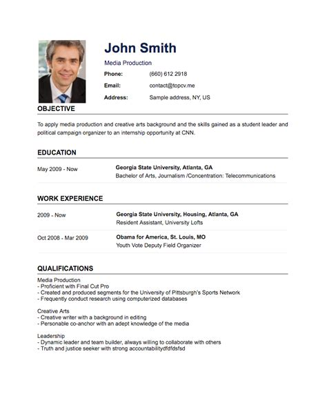 Create Resume Template by Standard Cv Template Create Resume Free Create A