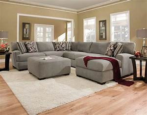 Torrey 4 piece right facing sectional gray levin furniture for Levin furniture sectional sofa