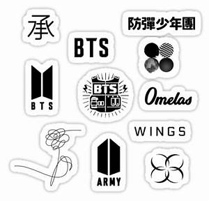 Pegatinas BTS LOGO STICKER PACK (updated!!) de lyshoseok Redbubble