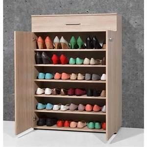 Placard à Chaussures : meuble chaussures chene achat vente meuble chaussures chene pas cher cdiscount ~ Teatrodelosmanantiales.com Idées de Décoration