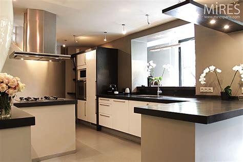 cuisine ouverte en u cusine ouverte sur terrasse c0119 mires