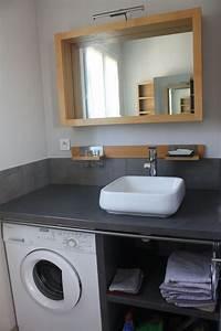 Machine à Laver Petite : salle de bain comprenant vasque douche wc lave linge rangement linge de toilette ~ Melissatoandfro.com Idées de Décoration