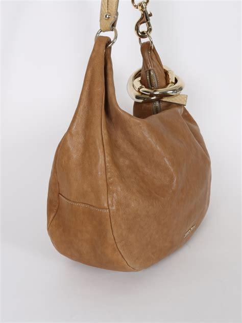 jimmy choo solar  brown leather handbag luxury bags