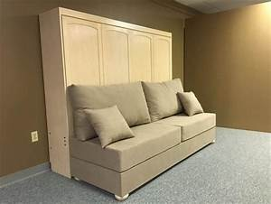 horizontal murphy bed w sofa custom by chris davis With horizontal murphy bed with sofa