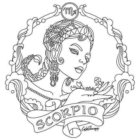 scorpio zodiac beauty colouring page zodiac signs colors