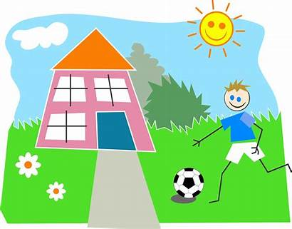 Playing Outside Clipart Children Boy Pixabay Soccer