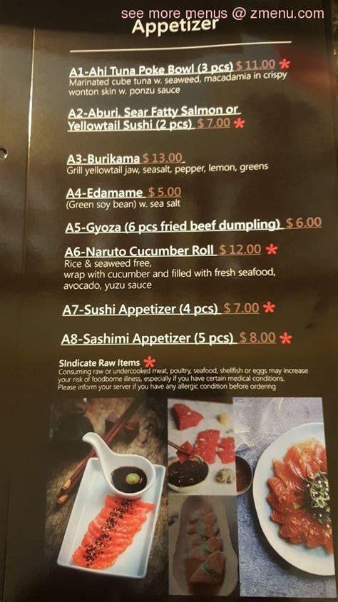 menu  yens kitchen  sushi bar restaurant