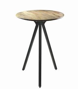 Table Haute En Bois : table haute de bar ronde en m tal et bois ~ Dailycaller-alerts.com Idées de Décoration