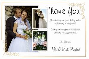 Unique diy wedding thank you card ideas weddings by helen for Wedding thank you card message ideas