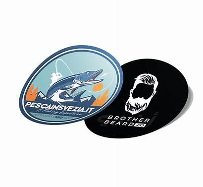 Stickers Labels Vinyl Circular Digital Adhesive Circle