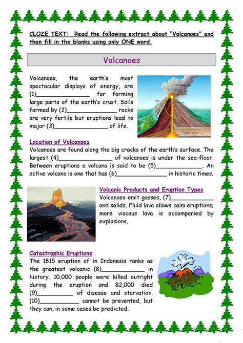 parts  volcano worksheet worksheets   worksheets