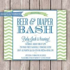 Beer And Diaper Shower by Printable Beer And Diaper Party Invitation Co Ed Baby Shower Invitation Couples Baby Shower