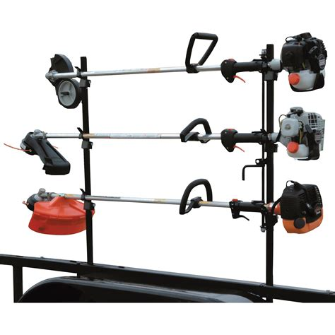 weedeater rack for trailer buyers lockable trimmer rack for open trailers model