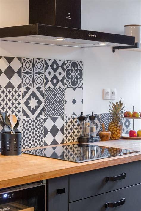 carreau ciment credence cuisine 10 crédences déco pour la cuisine cocon de décoration
