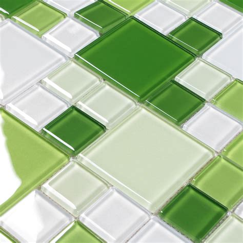 Green Glass Mosaic Window Countertop Crystal Glass Tile