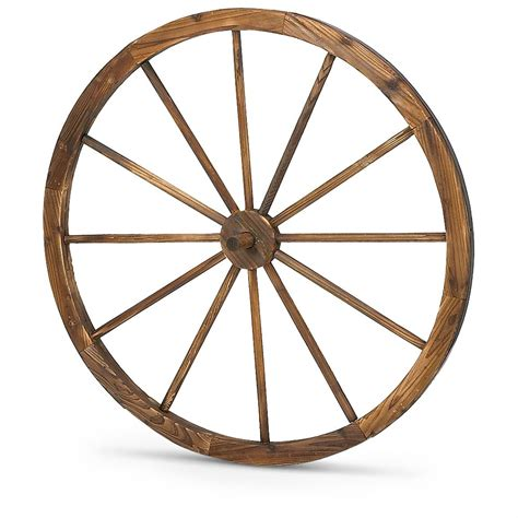 wagon wheel 36 quot wooden wagon wheel 214688 decorative accessories at sportsman s guide