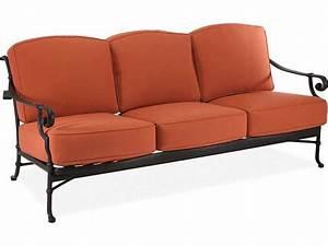 Winston legacy deep seating cast aluminum cushion sofa for Sectional sofa deep cushion