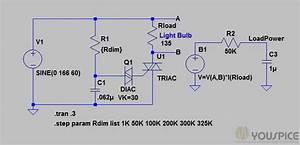 Light Bulb Dimmer With Triac Diac Solution