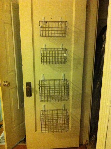 closet organization hang wire baskets by command hooks