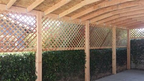 covered carport  lattice siding pergola carport