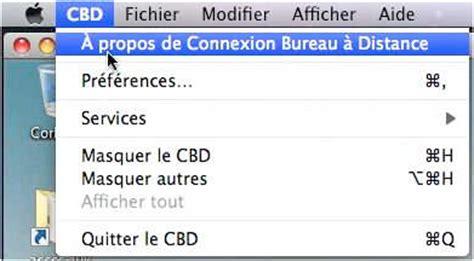 connexion bureau distance connexion bureau à distance pour mac fonctionnalités